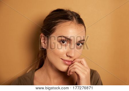 Pretty Young Woman Posing For Camera