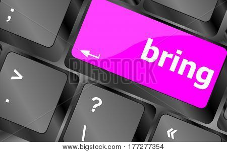 Bring Word On Computer Keyboard Key Button