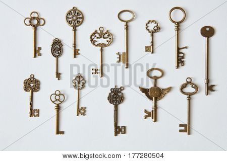 Keys represented on background