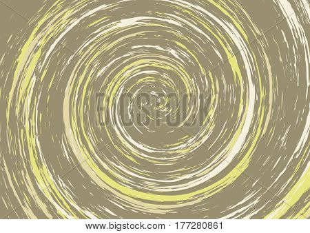 Spiral Swirl In Brown And Yellow Tones