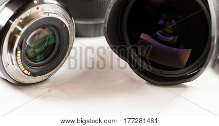 View Lenses For Digital Cameras From Different Sides