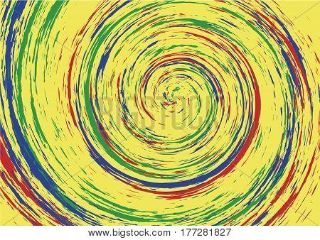 Hypnotic Spiral Swirl Background