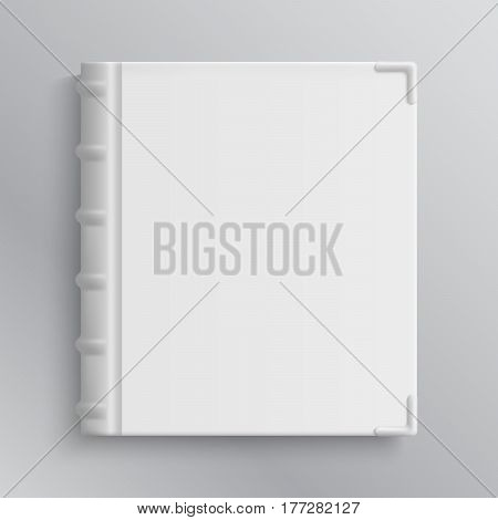 Blank of old book's cover vector illustration. Isolated object