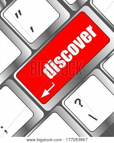 Word Discover On Computer Keyboard Enter Key