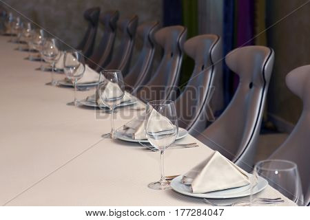 the a table food setting in restaurant
