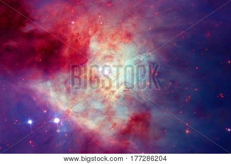 Galaxy in outer space. Elements of this image furnished by NASA.