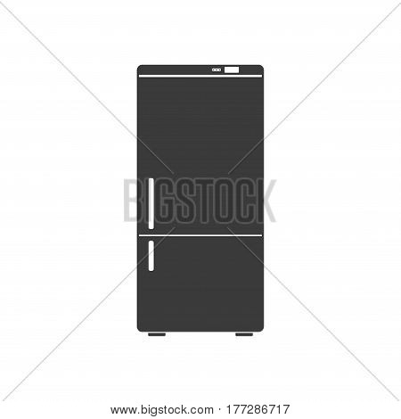 Household appliances fridge icon isolated on white background. Electronic device refrigerator. Home appliance freezer vector illustration.