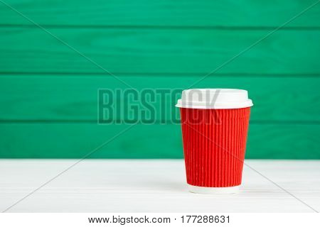 blur red paper cardboard coffee Cup texture green