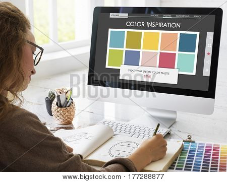 Colour Shade Design Colourful Palette Concept