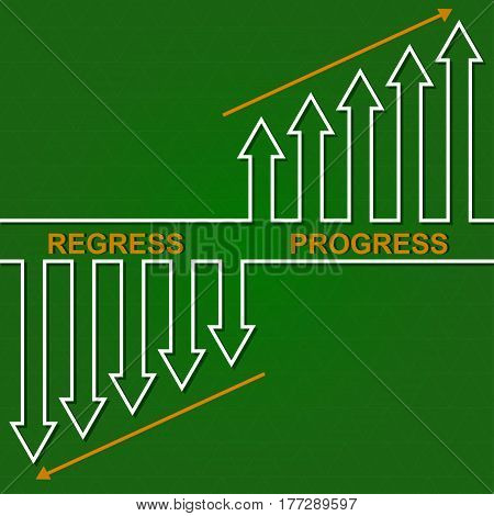Economic downturn and the rise. business fall diagram illustration