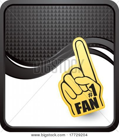 fan hand black checkered wave