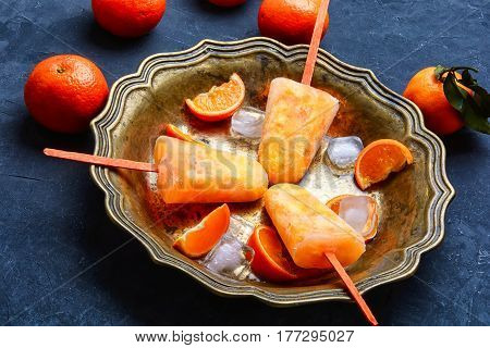 Ice Cream With Mandarin