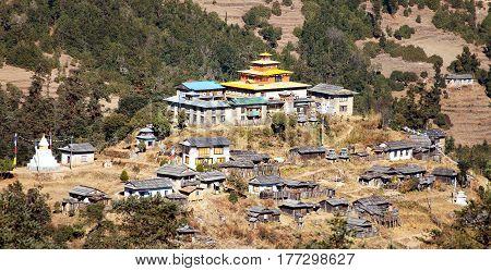 Kinggurding Gomba or Gompa Everest area Solukumbu region Nepal