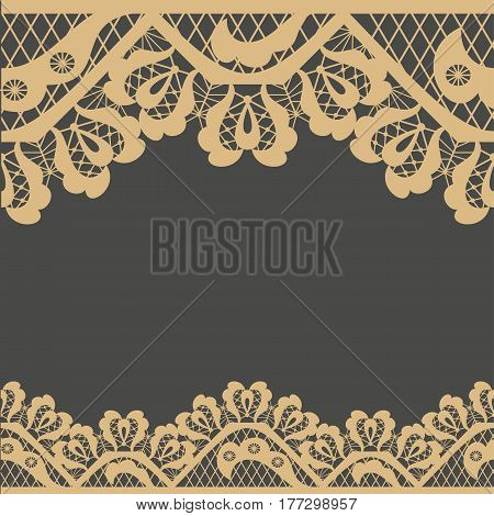 Abstract frame vector pattern background in grey and yellow colors with copy space