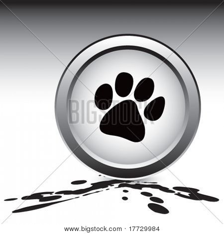 paw print splattered ground