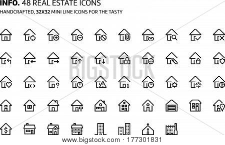 Real Estate Mini Line, Illustrations, Icons
