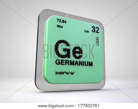 Germanium- Ge - chemical element periodic table 3d render