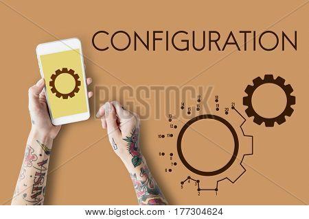 Cog Configuration Setting Icon Graphics