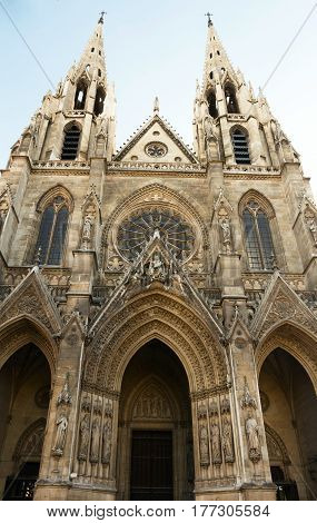 Basilica of Saint Clotilde (Basilique Ste-Clotilde 1827) is a basilica church in Paris located on the Rue Las Cases in the area of Saint-Germain-des-Pres. France.