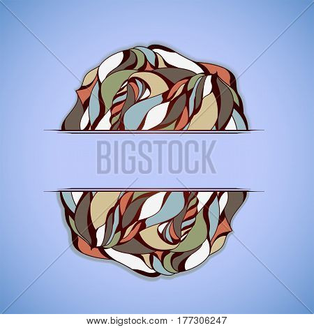 Abstract colorful frame on blue background. Illustration 10 version