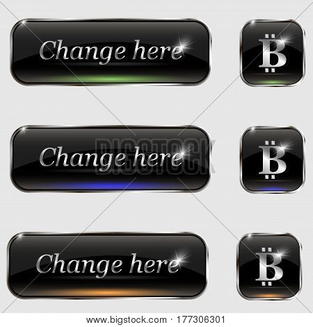 The vector set of buttons.With bit coin and text change here