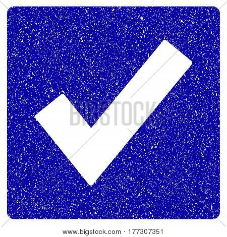 Grunge Valid rubber seal stamp watermark. Icon symbol with grunge design and unclean texture. Unclean vector blue sign.