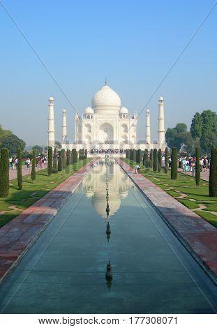 Taj Mahal Mausoleum Complex In Agra, India