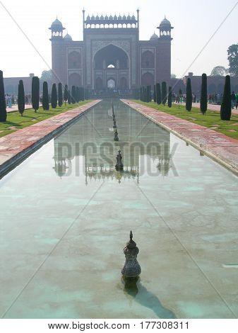 Taj Mahal Gate Architecture