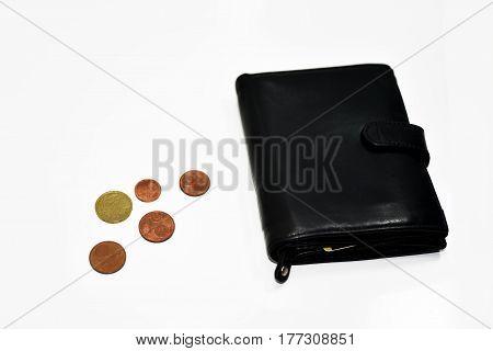 Empty Black Pocket With No Money.