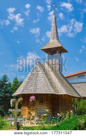 Wooden Church in Monastery of Giurgiu city Romania
