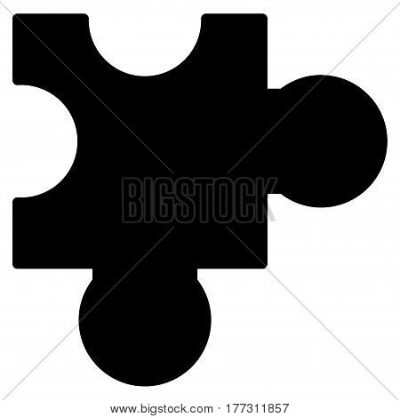 Plugin vector icon. Flat black symbol. Pictogram is isolated on a white background. Designed for web and software interfaces.