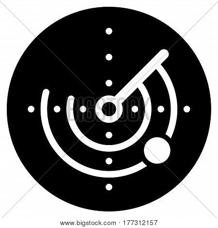 Radar vector icon. Flat black symbol. Pictogram is isolated on a white background. Designed for web and software interfaces.