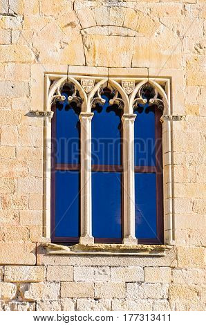 Castle Window In Valderrobres, Spain