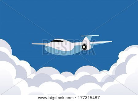 Vector image with plane in retro style. Vector