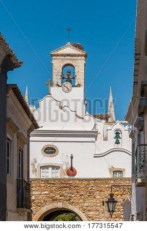 Old city center of Faro Algarve Portugal