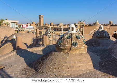 Roof of Sultan Mir Ahmed Hammam (bathhouse) , Kashan , Iran