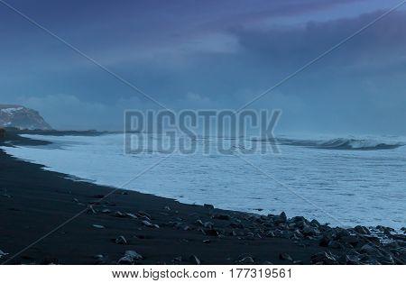 The Black Sand Beach Of Reynisfjara