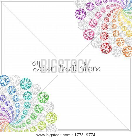 Colorful Templates for Text Placard Cover. Abstract Frame with Colored Whirling Circles.