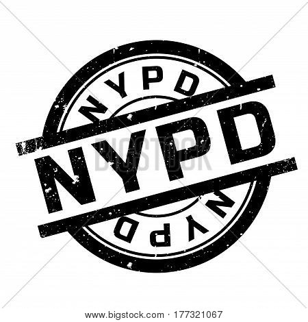 Nypd rubber stamp. Grunge design with dust scratches. Effects can be easily removed for a clean, crisp look. Color is easily changed.