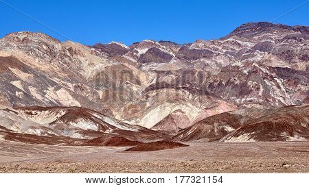 Beautiful Mountain Range In Death Valley National Park.