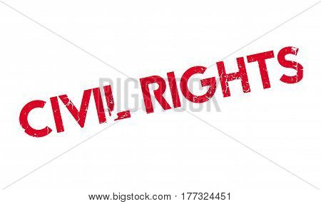 Civil Rights rubber stamp. Grunge design with dust scratches. Effects can be easily removed for a clean, crisp look. Color is easily changed.