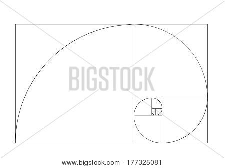 golden ratio template vector . Golden section frame