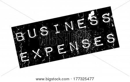 Business Expenses rubber stamp. Grunge design with dust scratches. Effects can be easily removed for a clean, crisp look. Color is easily changed.