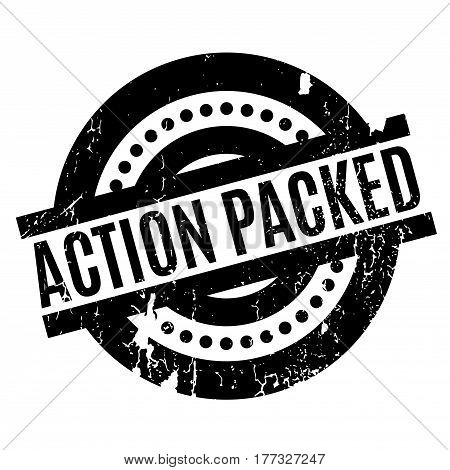 Action Packed rubber stamp. Grunge design with dust scratches. Effects can be easily removed for a clean, crisp look. Color is easily changed.