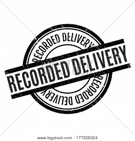 Recorded Delivery rubber stamp. Grunge design with dust scratches. Effects can be easily removed for a clean, crisp look. Color is easily changed.