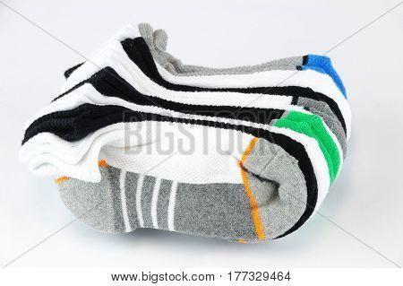 cute kids socks isolated on white background