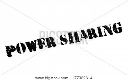 Power Sharing rubber stamp. Grunge design with dust scratches. Effects can be easily removed for a clean, crisp look. Color is easily changed.