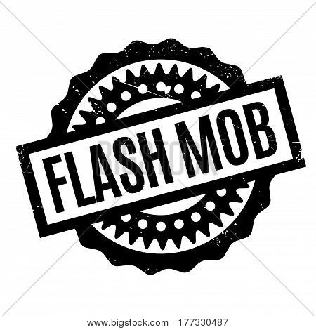 Flash Mob rubber stamp. Grunge design with dust scratches. Effects can be easily removed for a clean, crisp look. Color is easily changed.