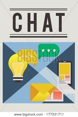 People chat text message e-mail conversation