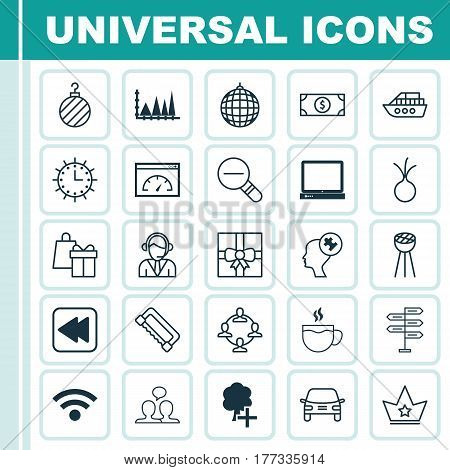 Set Of 25 Universal Editable Icons. Can Be Used For Web, Mobile And App Design. Includes Elements Such As Loading Speed, Carpentry, PC And More.